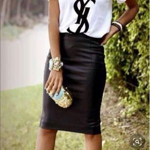 Genuine leather vintage skirt size 8